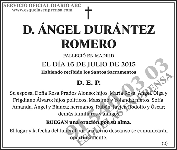 Ángel Durántez Romero